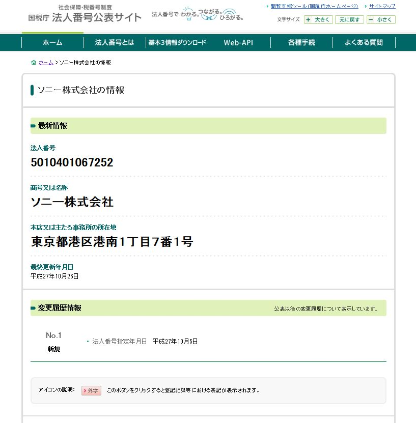 公表 国税庁 法人 サイト 番号