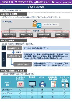 GビジネスID クイックマニュアル gBizメンバー編ver1.1 19/10