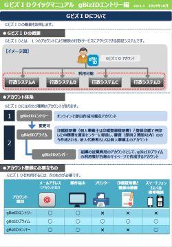 GビジネスID クイックマニュアル gBizエントリー編ver1.1 19/10