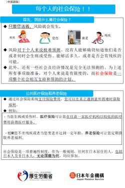 (中国語版)みんなのための『社会保険』!!