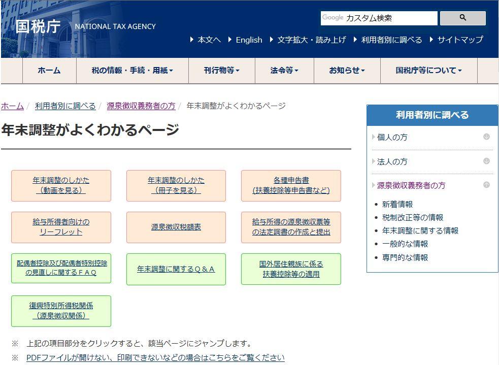 外国語版が公開された扶養控除等申告書・保険料控除申告書等