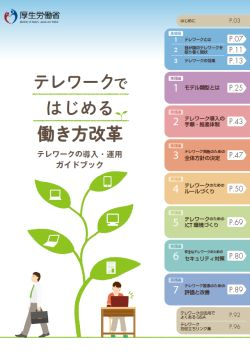 テレワークではじめる働き方改革(テレワークの導入・運用ガイドブック)